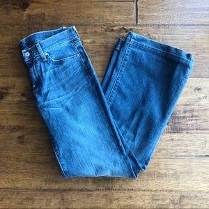 7 For All Mankind Dojo Med Wash Flare Jeans 27